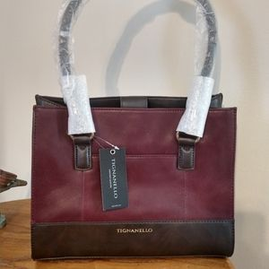 NWT Tignanello  Leather Handbag